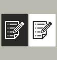 clipboard pencil - icon vector image vector image
