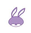 contour cute rabbit head wild animal vector image vector image