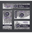 Corporate Identity with doodles ornamental ethnic vector image