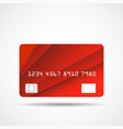 credit card icon with overlap red lines isolated vector image vector image