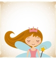 cute little fairy character vector image vector image