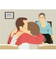 family therapist iilustration vector image