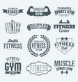 fitness logos collection vector image vector image