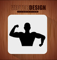 fitness sport design vector image