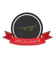 flat icon dinosaur megalosaur vector image vector image