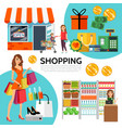 flat shopping composition vector image vector image