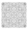 floral pattern coloring book page for vector image vector image