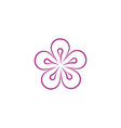 flower icon design vector image