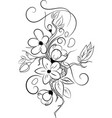 flower tattoo vector image vector image