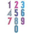 Funky retro stripes numbers set vector image vector image