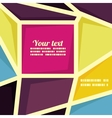 geometric banner template vector image vector image