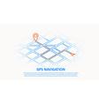 gps navigation thin line design vector image vector image