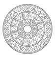 greek stroke mandala ancient vector image