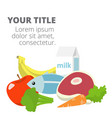 healthy fresh foods health care image vector image