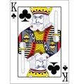 King of clubs original design vector image