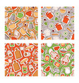 kitchen elements seamless pattern cooking vector image vector image