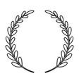 laurel wreath decorative emblem vector image
