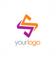 letter s color logo vector image