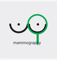 mammography icon made in minimalist style with vector image vector image