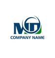 md m d letter logo design vector image vector image