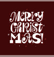 merry christmas modern fun greeting card template vector image