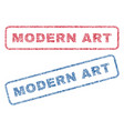 modern art textile stamps vector image vector image