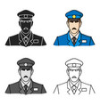 museum security guard icon in cartoon style vector image vector image