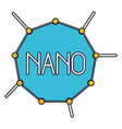 nano molecular structure colorful silhouette with vector image vector image