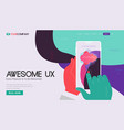 one page website kit for trendy technologies vector image vector image