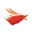 phoenix bird with rising wings ancient symbol of vector image vector image