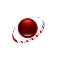 planet logo orbit and satellite logo cosmos logo vector image vector image