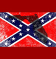 rebel civil war flag with florida map vector image vector image
