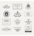 retro vintage emblem or logo set design elements vector image