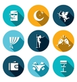 Set of Strip Club Icons Security Night vector image vector image
