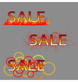 set of three sale text vector image vector image