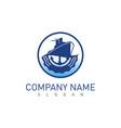 ship logo vector image vector image