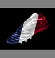 soccer football boot with the flag of france vector image vector image