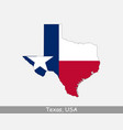 texas usa map flag vector image