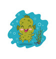 water monster in kawaii style vector image vector image