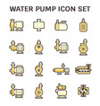 water pump icon vector image vector image