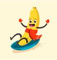 winter sports and activities cute kawaii fruit vector image vector image