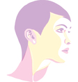 Women portrait - pop art vector image