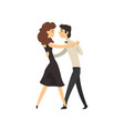 young man and woman characters in love dancing vector image vector image