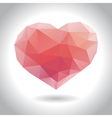 geometric heart vector image