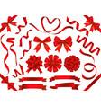 a set various red ribbons vector image vector image