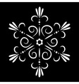 Abstract isolated snowflake or flower tattoo vector image vector image