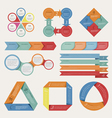 Abstract origami banner background vector image vector image
