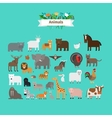 Animals flat design icons vector image vector image
