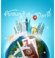 around wotld concept travel destination vector image vector image