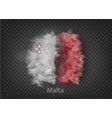 background flag smoke and clouds vector image vector image